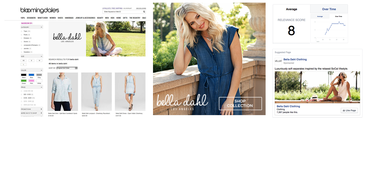 social and search fashion campaign