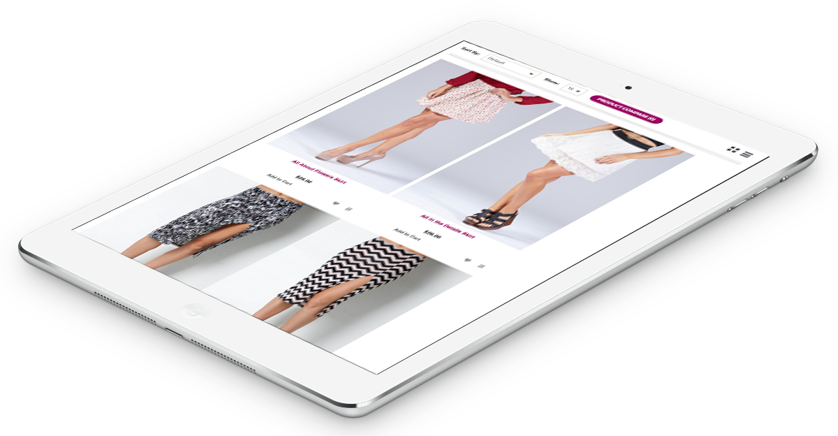 fashion marketing responsive website